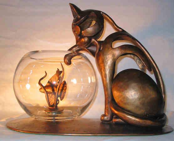 Sculpture métal art animalier figuratif gauger pierre lucien