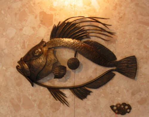 Sculptures de poissons métal